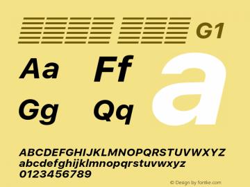系统字体 粗斜体 G1 11.0d60e1 Font Sample