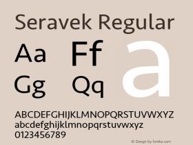 Seravek Regular 11.0d1e1图片样张