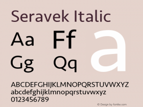 Seravek Italic 11.0d1e1图片样张