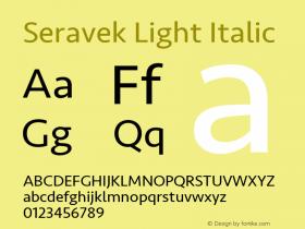 Seravek Light Italic 11.0d1e1图片样张