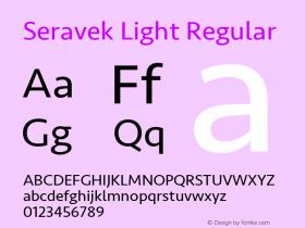 Seravek Light Regular 11.0d1e1图片样张