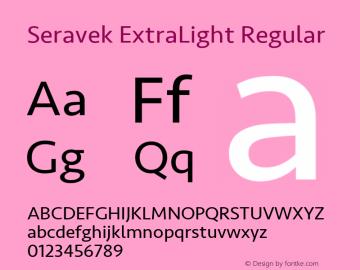 Seravek ExtraLight Regular 11.0d1e1图片样张