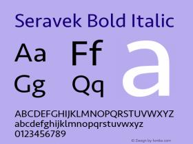 Seravek Bold Italic 11.0d1e1图片样张