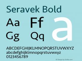 Seravek Bold 11.0d1e1图片样张