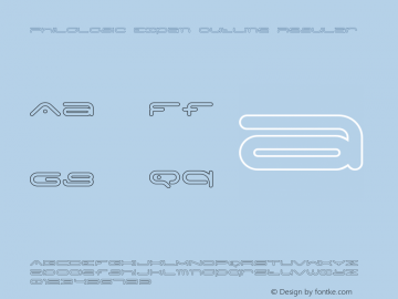 PhiloLogic Expan Outline Regular Version 1.000 2015 initial release图片样张