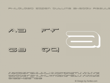 PhiloLogic Expan Outline Shadow Regular Version 1.000 2015 initial release Font Sample