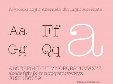 Keyboard Light Alternate SSi Light Alternate 001.000图片样张
