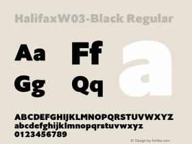 HalifaxW03-Black Regular Version 1.00 Font Sample