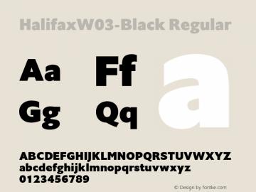HalifaxW03-Black Regular Version 1.00 Font Sample