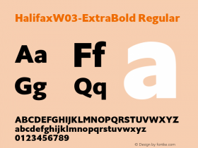 HalifaxW03-ExtraBold Regular Version 1.00 Font Sample