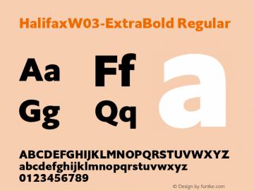 HalifaxW03-ExtraBold Regular Version 1.00 Font Sample
