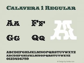 Calavera 1 Regular Version 1.001 Font Sample