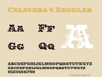 Calavera 4 Regular Version 1.000 Font Sample
