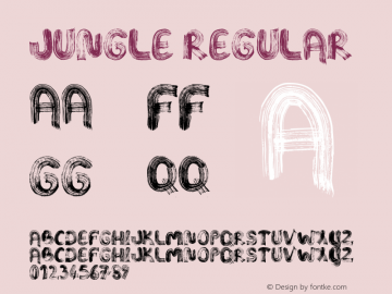 Jungle Regular Version 1.00 December 26, 2015, initial release Font Sample