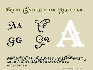 West End Decor Font Family Uncategorized