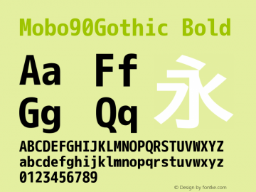 Mobo90Gothic Bold Version 001.02.14 Font Sample