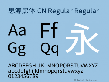 思源黑体 CN Regular Regular Version 1.000;PS 1;hotconv 1.0.78;makeotf.lib2.5.61930图片样张