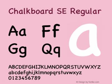 Chalkboard SE Regular 8.0d1e1 Font Sample