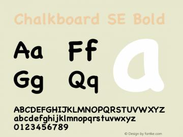 Chalkboard SE Bold 8.0d1e1 Font Sample