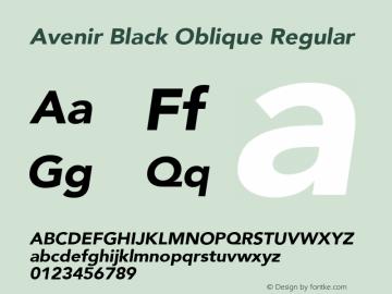 Avenir Black Oblique Font Family|Avenir Black Oblique-Sans