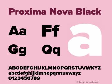 Proxima Nova Black Version 1.000;PS 001.000;hotconv 1.0.38 Font Sample