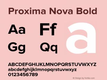 Proxima Nova Bold Version 1.000;PS 001.000;hotconv 1.0.38 Font Sample