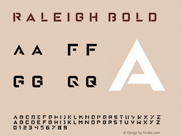 Raleigh Bold Version 1.00 January 18, 2016, initial release图片样张