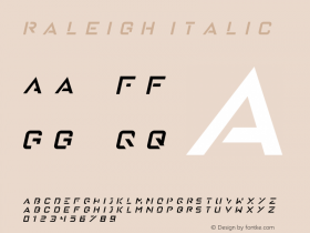 Raleigh Italic Version 1.00 January 18, 2016, initial release图片样张