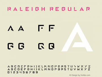 Raleigh Regular Version 1.00 January 18, 2016, initial release图片样张