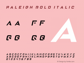 Raleigh Bold Italic Version 1.00 January 18, 2016, initial release图片样张