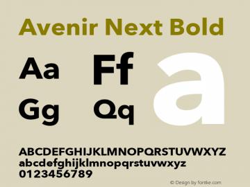 Avenir Next Bold 8.0d2e1 Font Sample