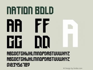 Nation Bold Version 1.000 Font Sample