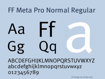 FF Meta Pro Normal Regular Version 1.000;PS 001.001;hotconv 1.0.56图片样张