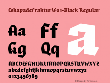 EskapadeFrakturW01-Black Regular Version 1.10图片样张