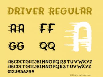 Driver Regular Version 1.000;PS 001.000;hotconv 1.0.70;makeotf.lib2.5.58329 DEVELOPMENT图片样张