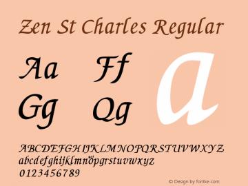 Zen St Charles Regular Macromedia Fontographer 4.1 5/11/98图片样张