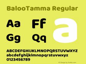 BalooTamma Regular Version 1.006;PS 1.000;hotconv 1.0.88;makeotf.lib2.5.647800图片样张