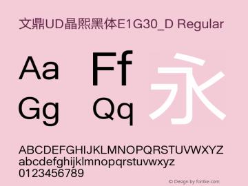 文鼎UD晶熙黑体E1G30_D Regular Version 1.00图片样张