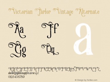 Victorian Parlor Font,VictorianParlorVintageAlternate Font
