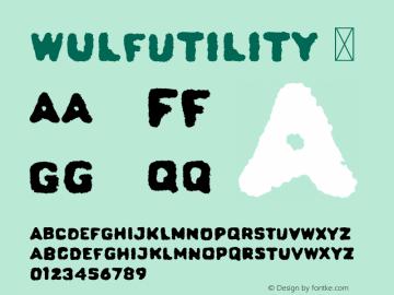 WulfUtility ☞ Version 1.000;com.myfonts.easy.device.wulf-utility.regular.wfkit2.version.4oXF图片样张