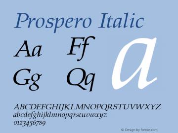 Prospero Italic 1.0 Sun Sep 11 23:55:46 1994图片样张
