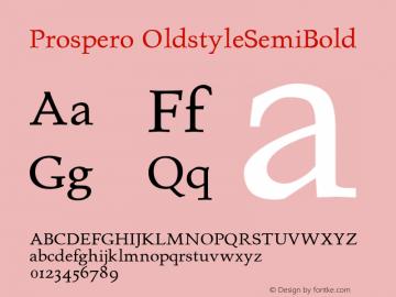 Prospero OldstyleSemiBold Altsys Fontographer 4.0.3 23.03.1995图片样张