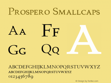 Prospero Smallcaps Altsys Fontographer 4.0.3 22.03.1995图片样张