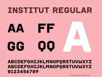 Institut Regular Version 001.001图片样张
