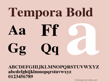 Tempora Bold Version 1.0 Font Sample