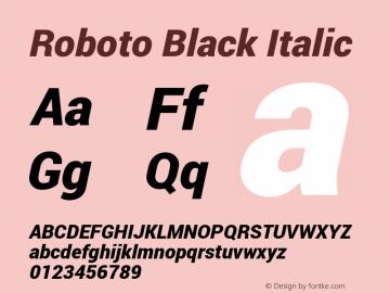 Roboto Black Italic Version 1.100141; 2013图片样张