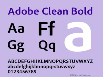 Adobe Clean Font,AdobeClean-Bold Font,Adobe Clean Bold Font