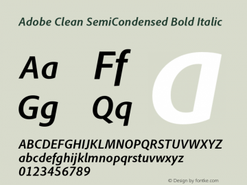 Adobe Clean SemiCondensed Font Family Adobe Clean