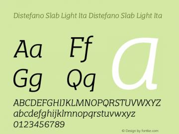 Distefano Slab Light Ita Distefano Slab Light Ita Version 001.001图片样张