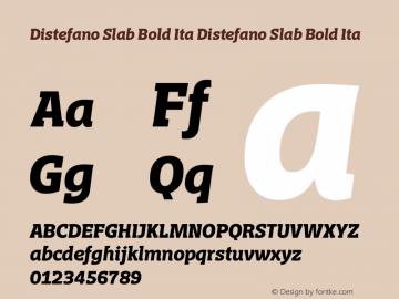 Distefano Slab Bold Ita Distefano Slab Bold Ita Version 001.001图片样张